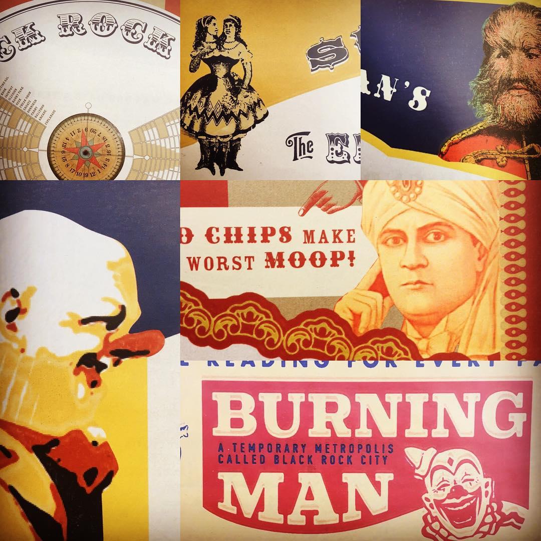 Burning Man Survival Guide periodical design