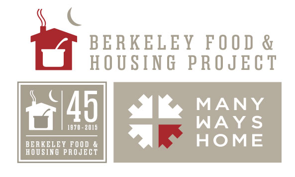 Logo suite for BFHP, a Bay Area non profit serving the homeless