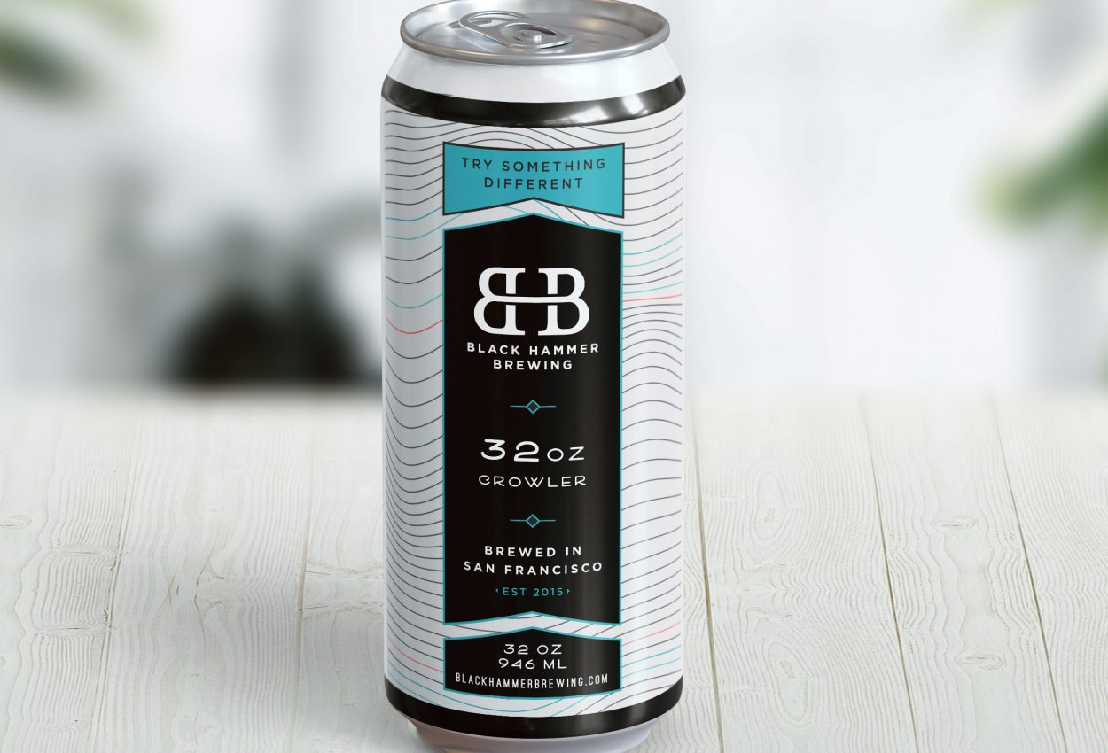 packaging design for San Francisco brewery